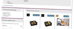 La solution de commande de plateaux repas en ligne pour les pros .