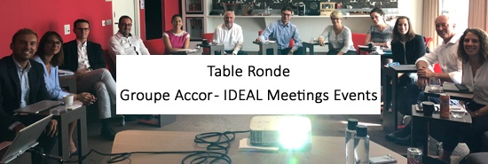 AccorHotels France invite IDEAL Meetings & Events à sa table.